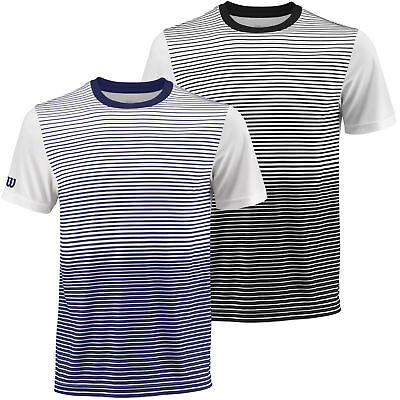 Wilson Sport Mens 2018 Team Sublimated Gradient Striped NanoWIK Crew T Shirt
