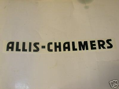 """Allis Chalmers Decal Black 2"""" X 20""""  NEW. FREE SHIPPING"""
