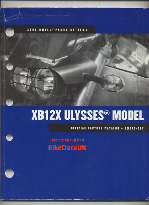 Genuine Buell XB12X Ulysses (2008) Factory Parts List Catalog Book Manual AF14