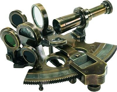 KA030 Bronze Pocket Sextant Nautical Executive Gift Authentic Models NEW