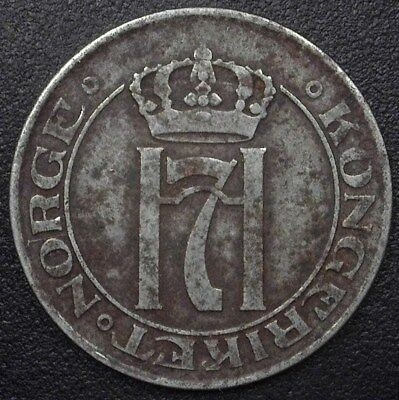 NORWAY 1917 5 ORE  EXTREMELY FINE  KM#368a