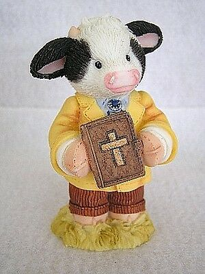 Mary's Moo Moos  PEACE BE WITH MOO - Preacher - MINISTER figurine 1998 New