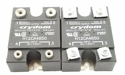 Lot Of 2 Crydom H12Ca4850 Solid State Relays 600V, 50A
