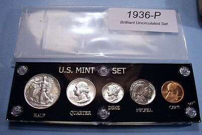 1936 MINT SILVER SET of U.S. COINS CHERRY PICKED GEM BRILLIANT UNCIRCULATED