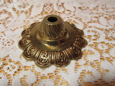 Vintage Brass Chandelier Bottom Bobeche With Finial Spain Free Ship