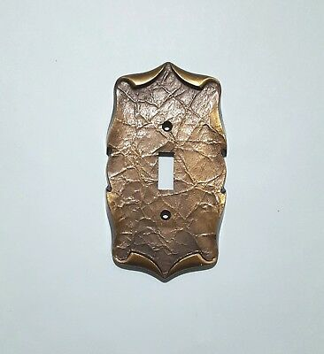 Vintage Amerock Carriage House Brass Switch Cover Plate