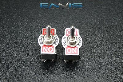 2 Pcs Toggle Switch Dpdt Center Off Toggle 10 Amp 250V 20 Amp 125V 6 Pin Ec-1520