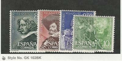 Spain, Postage Stamp, #983-986 Mint Hinged, 1961