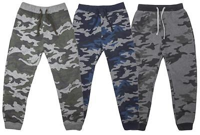 Boys Army Camo Camouflage Jog Pant Tracksuit Bottoms Trousers 3 to 14 Years