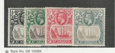 St. Helena, Postage Stamp, #79-82 Mint Hinged, 1922-27