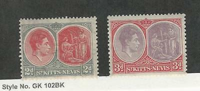 St. Kitts & Nevis, Postage Stamp, #82a, 84a (Perf 13X11.5) Mint LH