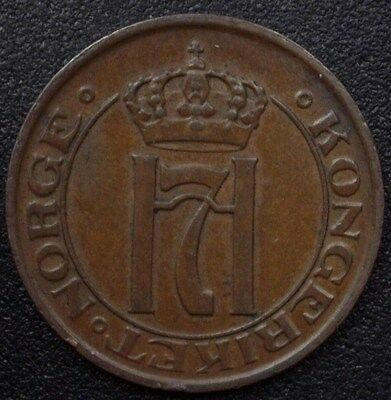Norway 1912 2 Ore  Nearly Uncirculated  Km#371