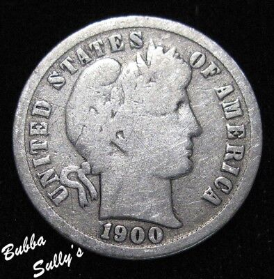 1900 S Barber Dime <> VERY GOOD
