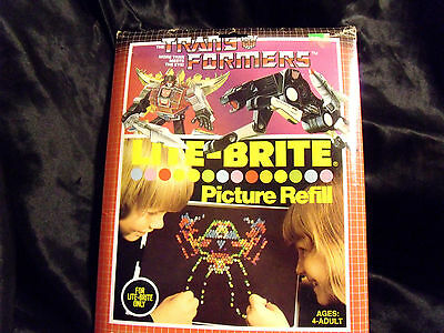 Rare Vintage 1985 Lite-Brite Picture Guide Sheets Refill Trans-Formers #5464