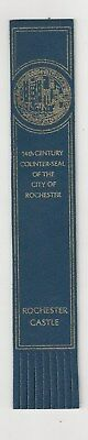 14th Century  Counter-seal of the city of Rochester. Blue Leather English  Bookm