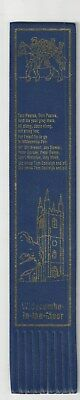 Widecombe-in-the –Moor. Blue Leather English  Bookmark.