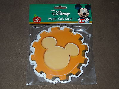 Disney Mickey Mouse Paper Cut-Outs-36 Per Package-Free Shipping-New- Eureka