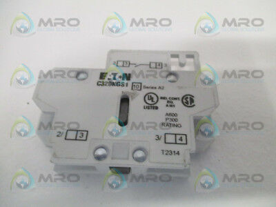 Eaton C320Kgs1 Auxiliary Contact Block *used*