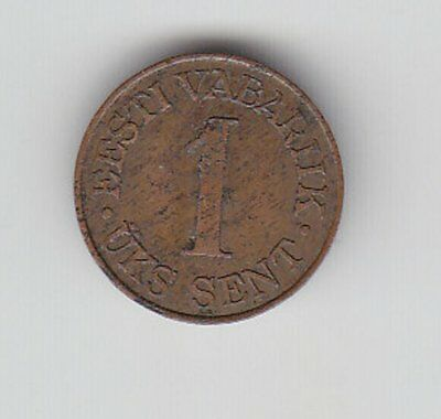 Estonia:coin  : 1 Sent 1939 (Without Oaks, Seldom!)