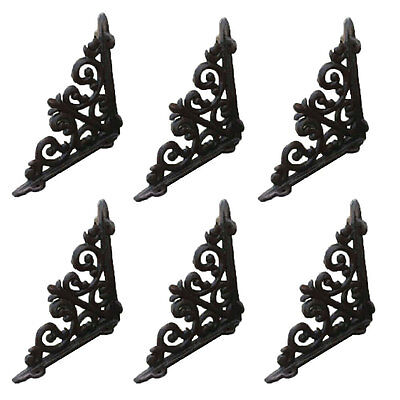 6 X Antique Style Cast Iron Brackets Garden Braces Rustic Shelf Bracket CJ003