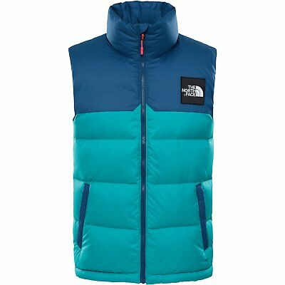 The North Face Capsule 1992 Nuptse Mens Jacket Gilet - Porcelain Green Blue  Wing bac8374ddd6a