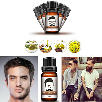 Men Natural Facial Fast Hair Beard Growth Oil Thicker Essence Mustache Fast Grow