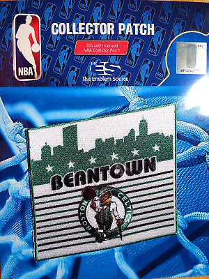 Official Licensed NBA Boston Celtics Beantown Fan Iron or Sew On Patch