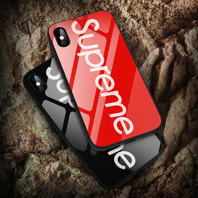 separation shoes 9576d c9061 FASHION SUPREME IPHONE X 6 6s 7 8 Plus Case Shockproof Tempered Glass Back  Cover