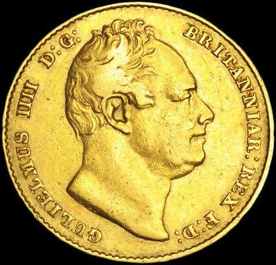 Rare King William The Iv 1833 Gold Sovereign.....