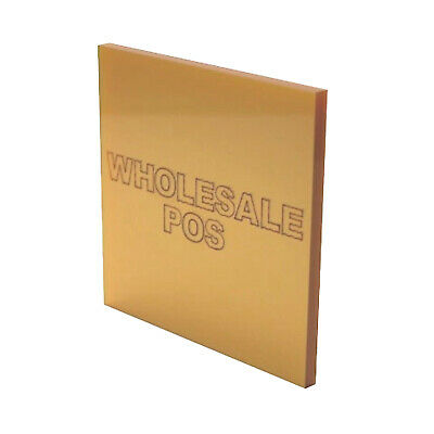 Metallic Gold Sheet Cast Acrylic Perspex MT9918 Ideal metal substitute 3mm & 5mm