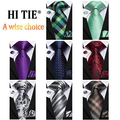 Plaids&Checks 100 Colors Mens Silk Tie Necktie set Classic Blue Red Grey Purple