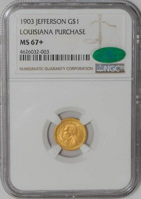 1903 $ Jefferson Gold Dollar Louisiana Purchase #4626032-003 MS67+ NGC ~ CAC