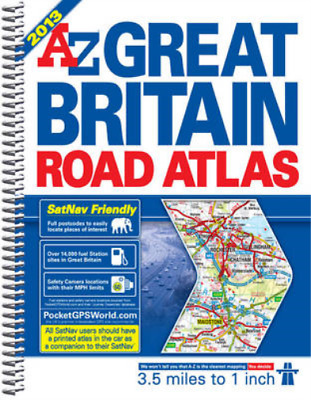 Great Britain Road Atlas (A-Z Road Atlas) [spiral bound], Geographers A-Z Map Co