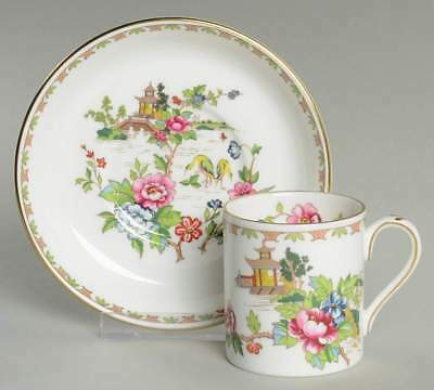 Crown Staffordshire PAGODA Demitasse Cup & Saucer 2337891