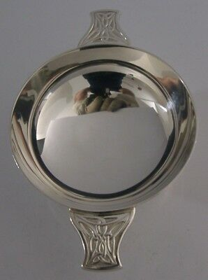 Beautiful English Solid Sterling Silver Celtic Whisky Quaich 1998