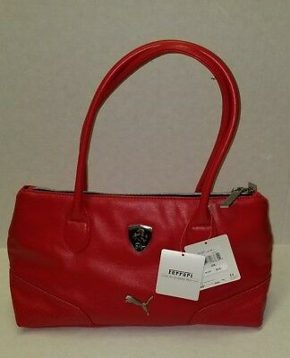 9eebca030b New Puma Scuderia Ferrari LS Women Red Handbag Small Satchel 89213902