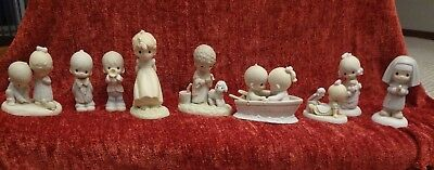Vintage Precious Moments Lot Of 9-The Early Years;1978-1984; Mint; PLUS HALLMARK