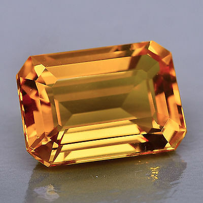 10x8mm OCTAGON-FACET NATURAL BRAZILIAN GOLDEN CITRINE GEMSTONE (APP £71)