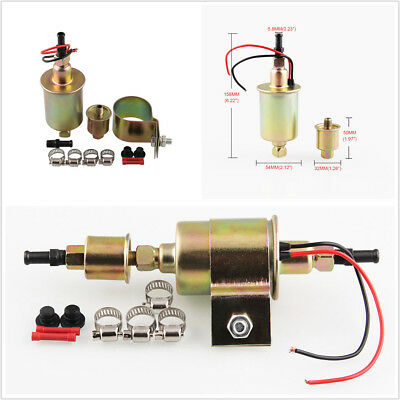 12V 12S Universal 5-9 PSI Electric Fuel Pump Carbureted Diesel Gasoline For Car