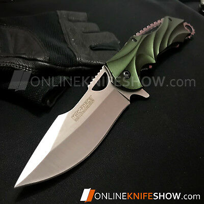 GREEN ARMY TACTICAL SPRING ASSISTED FOLDING BLADE Folding Pocket Knife TAC-FORCE