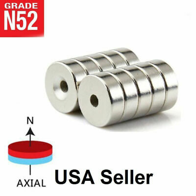 20 50 Strong Countersunk Ring Magnets 20 x 5mm Hole 5mm Rare Earth Neodymium N50