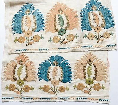 An Exceptional Antique 18Th Century Ottoman Yaglik Embroidery Textile