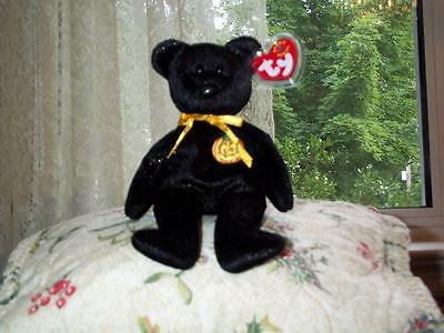 Halloween TY Beanie Baby babies Haunt Black Bear 10-27-2000 retired mint tags