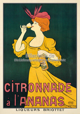 Citronnade a L Ananas Leonetto Cappiello Edel Jugendstil Plakat Plakate A3 334