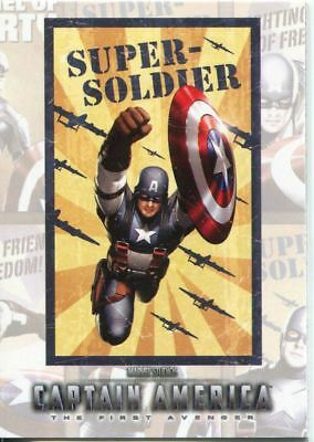 Captain America The Movie Poster Series Chase Card P-3
