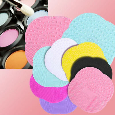 Makeup Brush Cleaner Pad Fashion Cleaning Mat Cosmetic Washing Scrubber Board