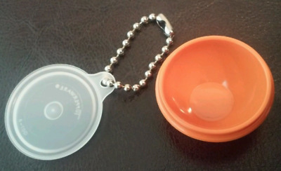 Tupperware Wonderlier Bowl Keychain Lid Opens Harvest Orange New