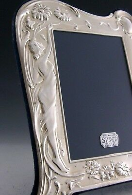 ENGLISH SOLID STERLING SILVER ART NOUVEAU PHOTO FRAME GOOD SIZE 8.25 inch