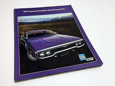 1971 Plymouth Satellite Road Runner GTX Brochure