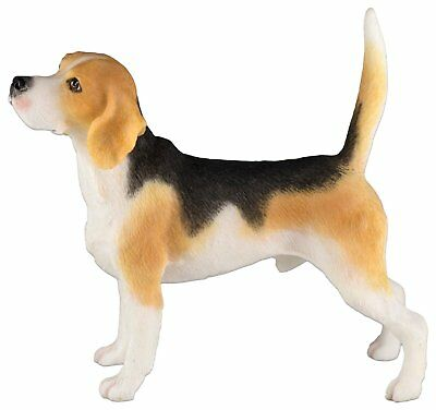 "Beagle Hound Dog Figurine 3.75"" High - Highly Detailed New In Box"